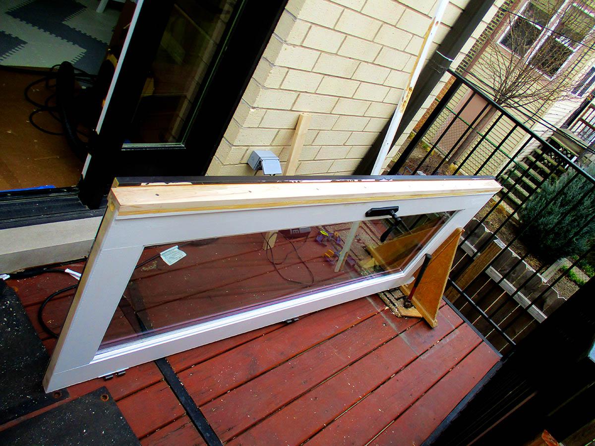 new edge repaired on wood door
