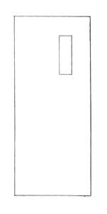 7 x 16 lite wood or steel flush door